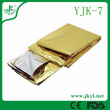 YJK-7 Factory direct sale price of waterproof gold thermal emergency blanket