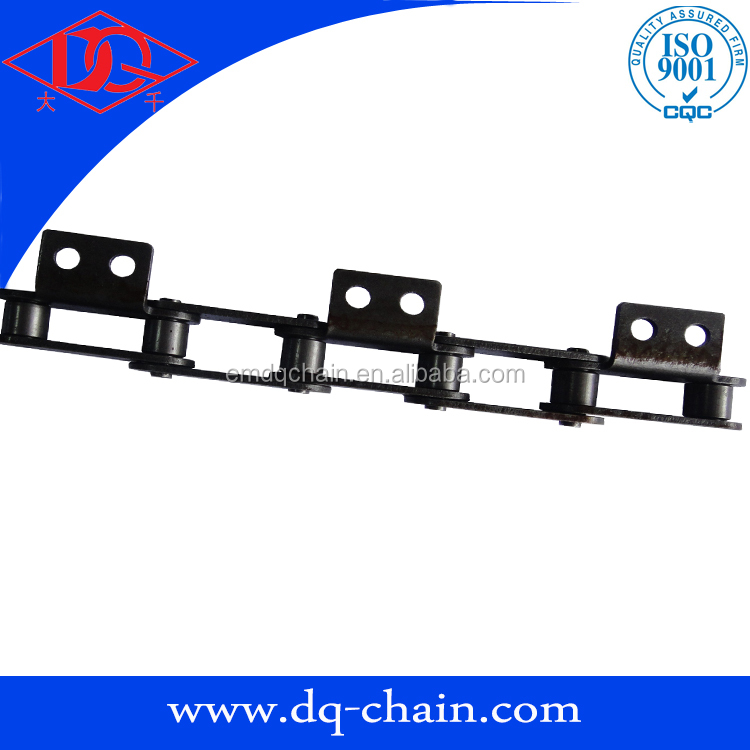 Double pitch conveyor chain C2050 A2 roller chain with attachment