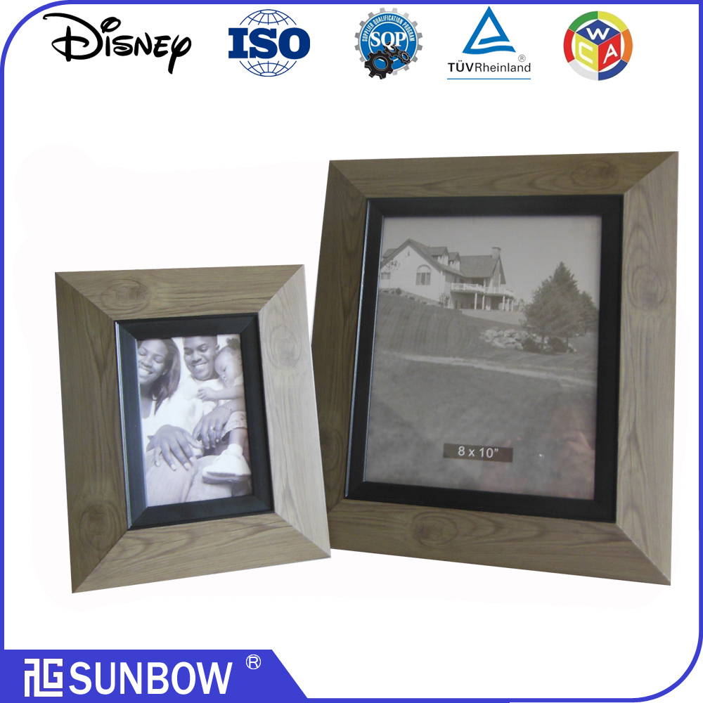 wholesale vintage style wood grain plastic frame photo