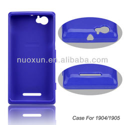 Soft tpu case for mobile phone for Sony Xperia M