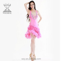 Hot And Sexy tassels Latin Ballroom Dresses costumes sex belly dance wear