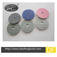 "3"" 4"" Factory direct price flexible 3 step Wet/Dry Diamond polishing pads"