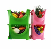 2018 Hot Sell New Design Food Grade PP Material Storage Vegetable Fruit Small Plastic Basket