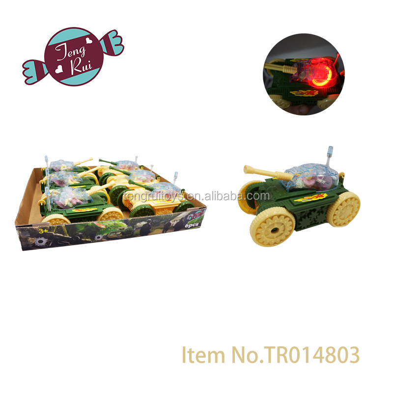 New Item - Pull wire Transforma Tank toys candy for kids from shantou manufacturer