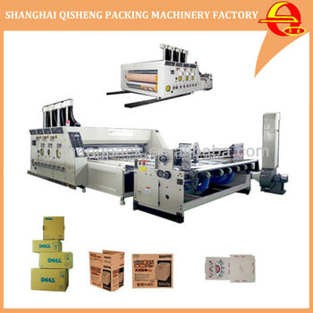 Automatic corrugated feeding printing and die cutting machine carton box making production line