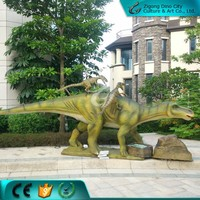 Life Size Mechanical Bbc Dinosaur Dilophosaurus for Museum Exhibition
