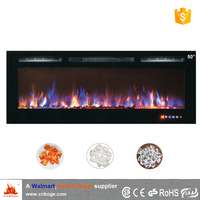 "50"" master flame recessed electric fireplace heater for decoration"