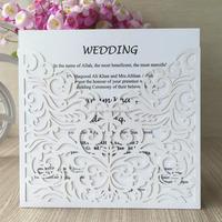 laser cut pearl paper metallic gold paper christmas card Best quality best-sellingwedding laser cut invitation pocket cards