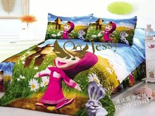 A shy little girl printed children bed sheets