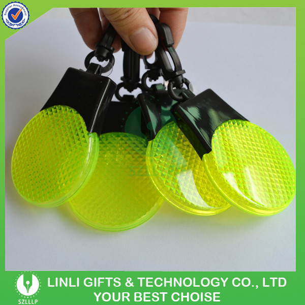 Custom Hot Selling Reflective Mini LED Hanger For Safety With 3 LED Light, High Quality Reflective Keychain/LED hanger