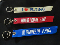 Remove Before Flight Embroidery Keychain/Key tag /Key Fob,Embroidery Fabric Key Chain
