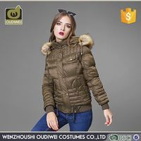 Manufacturer price super quality womens winter coat with fur lining on sale