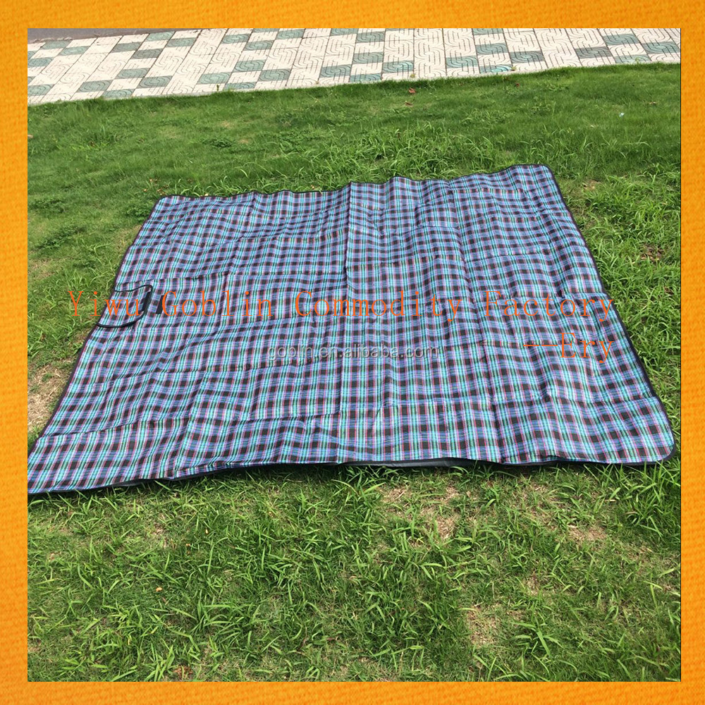 Top Sale on Amzon Custom Outdoor Waterproof Family Beach Mat Picnic OEM Yoga Blanket GBEY-928