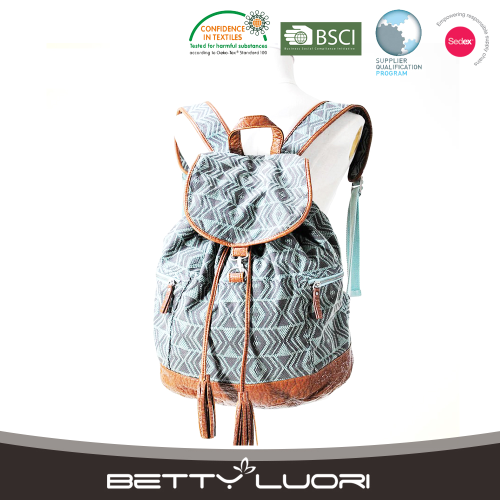 Wholesale Custom Fashion Women Canvas School Backpack For Girls
