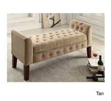 Hot Sale Fabric Indoor Storage Bench/ Bench Fashion