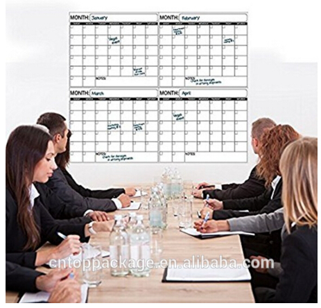 Jumbo Laminated Wet Erase 4 Month Quarterly Wall Calendar 38X45 inches for Home Office College and Schools