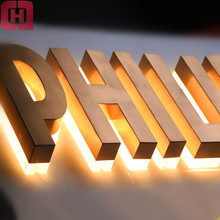 Top quality low price custom 3d backlit sign acrylic led channel metal letter sign