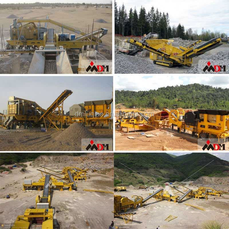 China Top quality trailer portable stone crusher