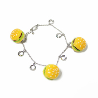 fashion charm fake hamburger design bracelet hand chain