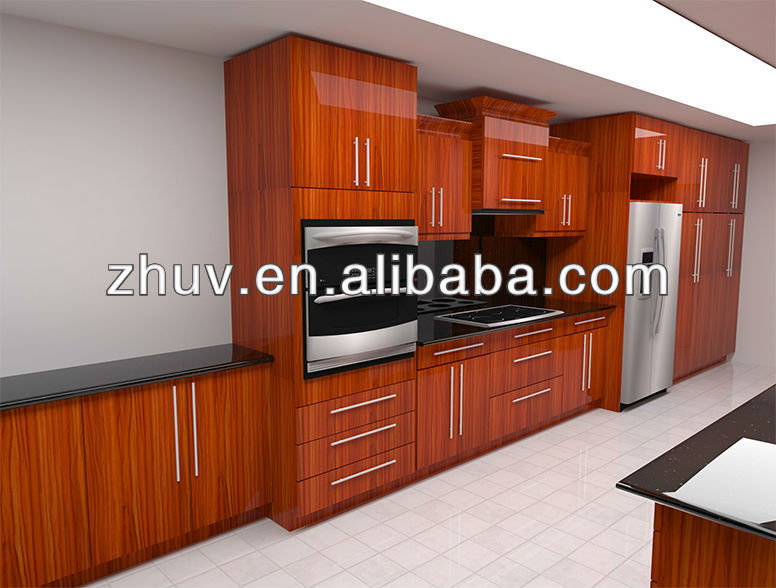 melamine MDF UV wood grain board for kitchen furniture decoration