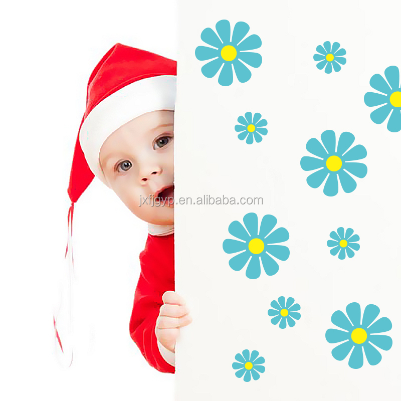 Creative Removable stickers/non-toxic PVC flower wall sticker home decals