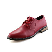 Manufacturer Custom Men White Low Heel Lace Up Leather Dress Shoes