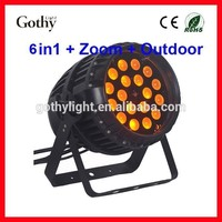CE ROHS 18pcs RGBW Zoom Outdoor Led Light quad par64