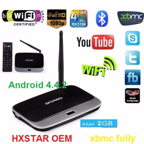 Hot selling RK3188 quad core google android 4.4 tv box cs918