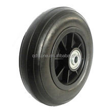 200x50 solid PU wheels complete with plastic rim from china supplier