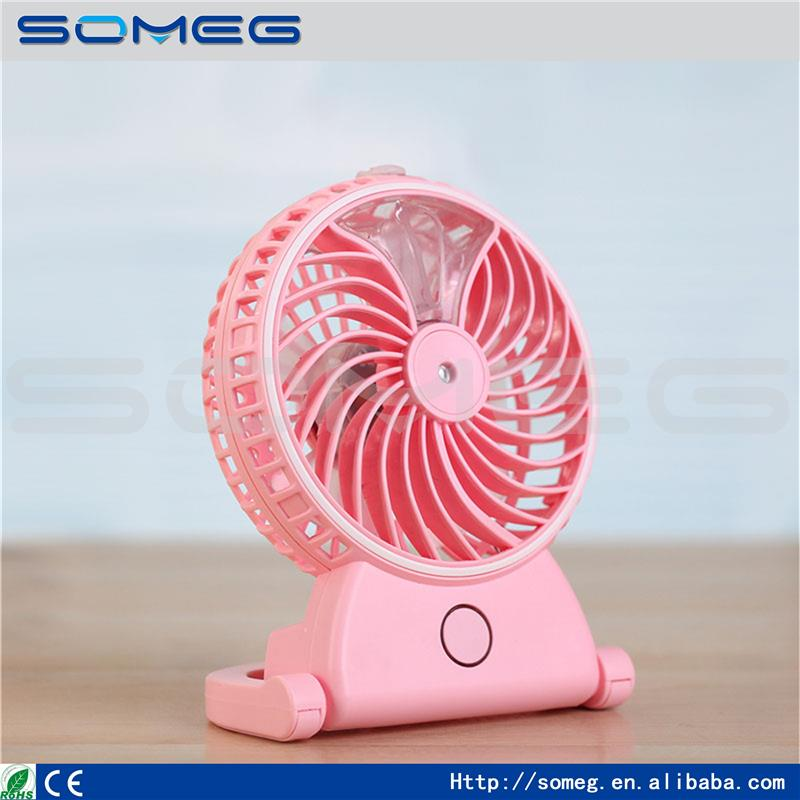2016 Rechargeable Portable Handheld Humidifier <strong>Fan</strong> USB Summer Office Cooling Mist Water Spray Air Conditioning Moisturizing <strong>Fan</strong>