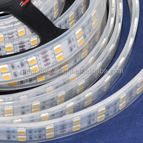 IP68 Silicone Tube Waterproof 120LEDs/M Double Row SMD 5050 LED Strip 12V White/Warm white light For Swimming Pool, Fish Tank