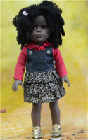 "cloth body american girl doll african american/18"" make custom vinyl toys/american girl doll prototypes"