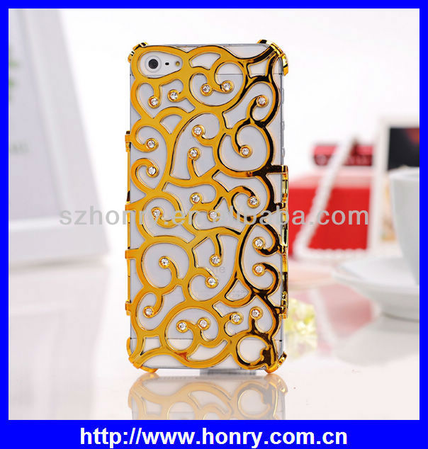 Flower Hollow Hard Plastic Cell Phone Cover Case For iPhone 5 5S