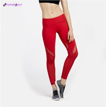 Customized women's supplex sports fitness wear sexy mesh yoga pants transparent workoutleggings