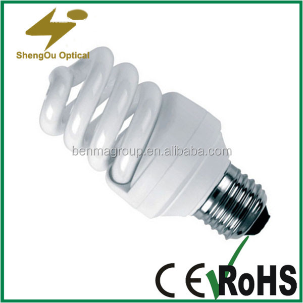 long service life 18W energy saving lighting CFL Tri-color full spiral shape