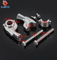 ZJMOTO Billet Aluminum Motorcycle Polish Handlebar Riser For Most Motorcycle 1'' 25.4mm Handlebar Clamp