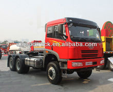 China tractor truck FAW 6x6 380hp tractor truck for sale