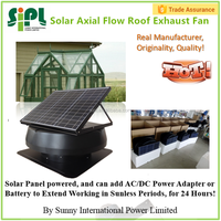 Air conditioning appliances home use solar roof exhaust fan for air cooling