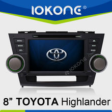 "8""Touch Screen TOYOTA Highlander In Dash Car DVD Player GPS Navigation"