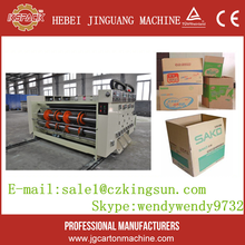 corrugated cardrboard 1-5 colour flexo ink printer slotter machine paperboard printing slotting machine