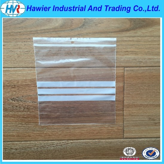 Custom print resealable plastic zipper bag from Hawier