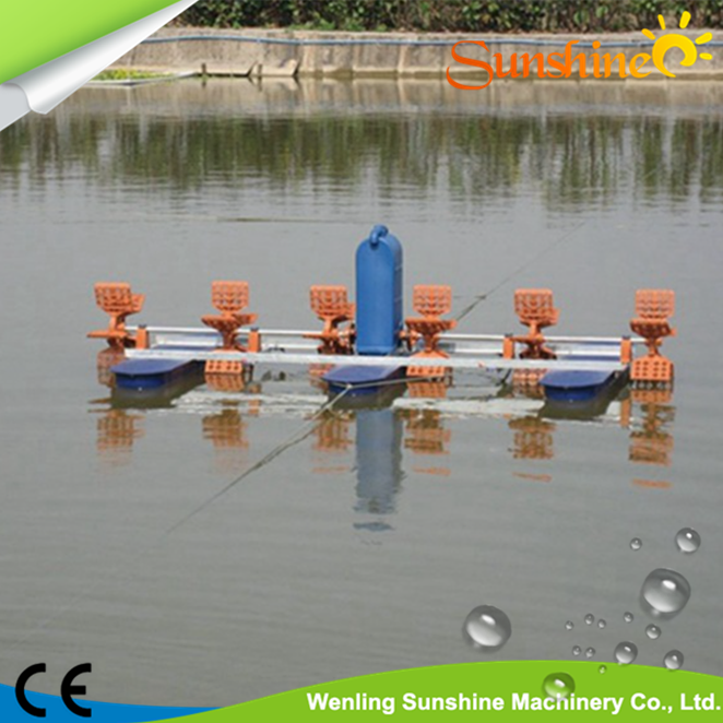 for fish pond 1:14 reducer 165cm float nano bubble for aquaculture 9 spline gearbox fish pond aerator