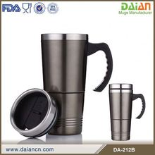 Double Wall Stainless Steel Thermal Coffee Cups With Handle