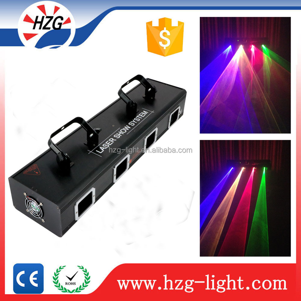 DMX512 Stage Light 4-Lens RGBY DJ Part Beam Show Laser Lighting Fast Ship