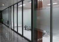 Aluminium frame used office glass partition wall