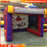 hot sale inflatable slap shot hockey game/ inflatable sport game for sale