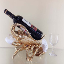 home decorative craft lobster shape resin animal wine bottle holders