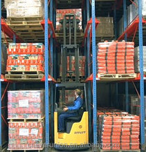 Heavy weight loading drive in pallet racking system