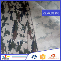 polyester oxford waterproof 210D PU coating camouflage printed fabric