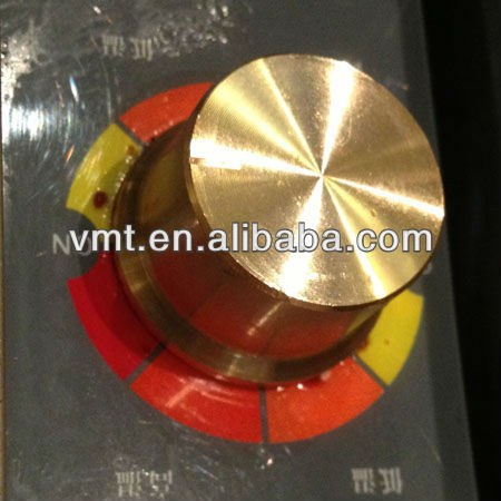 brass metal gas stove knob for gas control